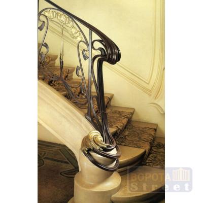 Кованые перила в стиле Ар Нуво