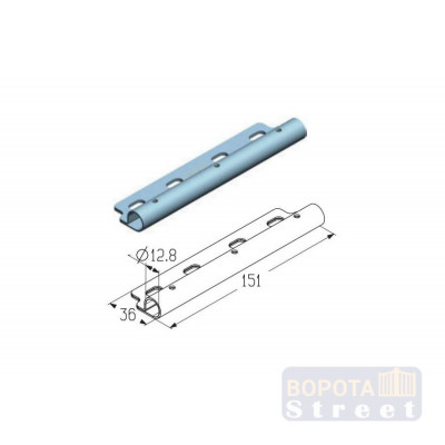 Alutech Накладка роликовая дуплексная промежуточная RP121