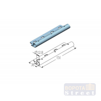 Alutech Накладка роликовая дуплексная верхняя RP122