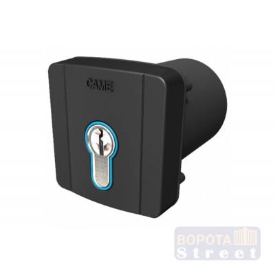 Came SELD2FDG ключ-выключатель встраиваемый с цилиндром замка DIN и синей подсветкой, цвет RAL7024 (806SL-0060)