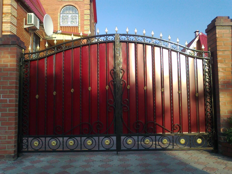 масть кованые ворота с профлистом фото запрос